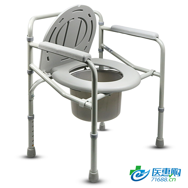 加加林坐厕椅 喷塑 可折叠 老人 孕妇坐便器残疾人移动马桶凳大便坐厕椅家用