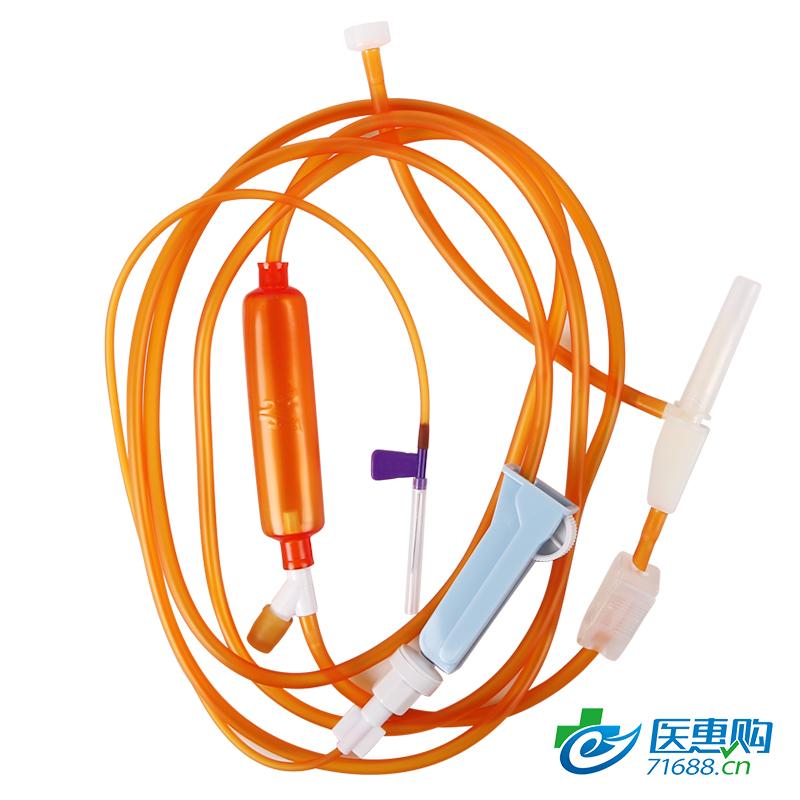 【直供医疗机构】 义鑫 三鑫 一次性使用避光输液器 带针 GV3(单头)含塑化剂 单插输液器